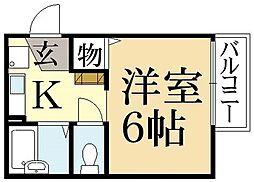 クレール桃ノ本[1階]の間取り