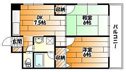 広島県広島市安佐南区祇園2丁目の賃貸マンションの間取り