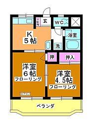 神田マンション[302号室]の間取り
