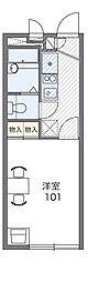 京阪本線 門真市駅 徒歩21分の賃貸アパート 1階1Kの間取り