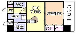 ライオンズマンション六ツ門第2[305号室]の間取り