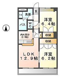 アリスハウス[2階]の間取り
