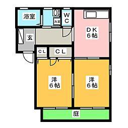 プレシャスメゾン B棟[1階]の間取り
