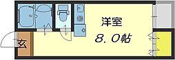 ピア小阪[4階]の間取り