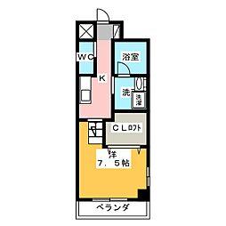 天王町コンフォート[4階]の間取り