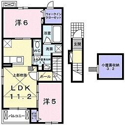 羽生市アパート[201号室]の間取り