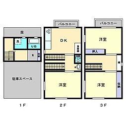 [一戸建] 高知県高知市東雲町 の賃貸【/】の間取り