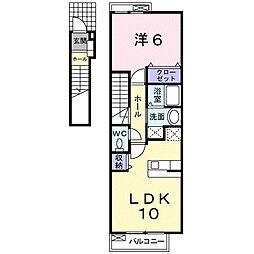 グランブローテII B[2階]の間取り