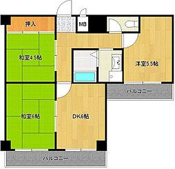グランドメゾン富士[4階]の間取り