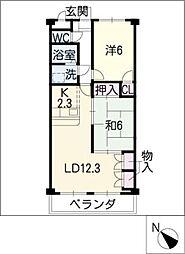Comfort東山[3階]の間取り