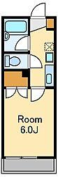 東京メトロ丸ノ内線 東高円寺駅 徒歩5分の賃貸マンション 2階1Kの間取り