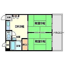 エリータ桃山台1[4階]の間取り