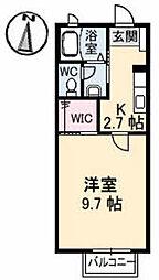 ディアスB&W 2棟[B106号室]の間取り