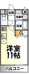 仙台市営南北線 北四番丁駅 徒歩16分の賃貸マンション 2階ワンルームの間取り