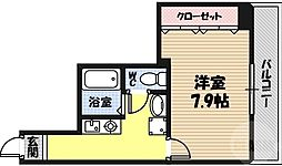 M'プラザ蒲生四駅前 6階1Kの間取り