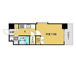 ORIENT BLD No.122(1K Aタイプ 角) 14階1Kの間取り
