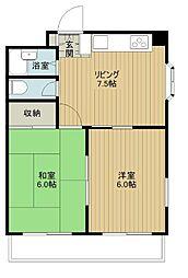 第一今井ビル[401号室]の間取り