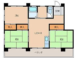 マンション栄谷[2階]の間取り