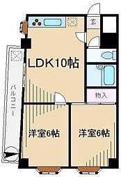 富岡ビル[4階]の間取り