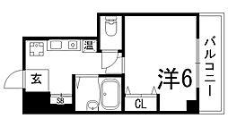 ヒューネット神戸元町通[4階]の間取り
