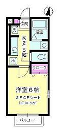 ヴェルデ七里ガ浜II[2階]の間取り
