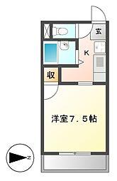 キララハイツ[4階]の間取り