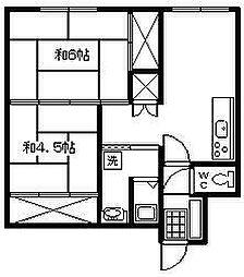 久城ビル[302号室]の間取り