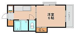 メゾンドゥボナール[1階]の間取り