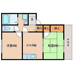 静岡県静岡市清水区北脇の賃貸アパートの間取り