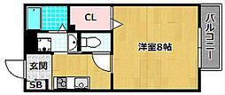 プレイスKM C[2階]の間取り