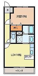 第23愛日ハイツ[1階]の間取り