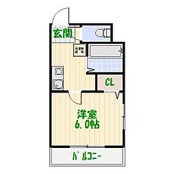 はなぶさマンション第2[102号室]の間取り
