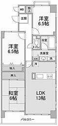 ピークII[3階]の間取り