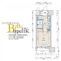 プレミアムステージ新大阪駅前II[11階]の間取り