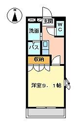 クオリティー高野II[2階]の間取り
