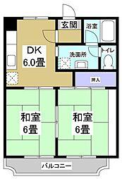 メゾン横須賀III[105号室]の間取り