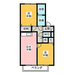 波多野八号館[2階]の間取り