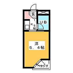 仙台堤町ロングビーチマンション[4階]の間取り