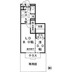 コムアニモ[1階]の間取り