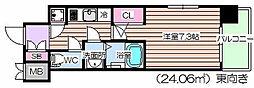 レジュールアッシュ福島キューズ[9階]の間取り