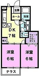 ガ−デンハウスミズキ[103号室]の間取り