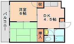 ドリームアイ[4階]の間取り
