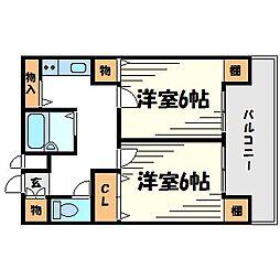 メゾン大和7号館[5階]の間取り