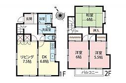 一戸建て(狭山ヶ丘駅から徒歩15分、80.32m²、880万円)