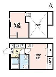 ルッカ新松戸[203号室号室]の間取り