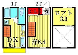 ティロフィナーレ松戸B棟[2階]の間取り