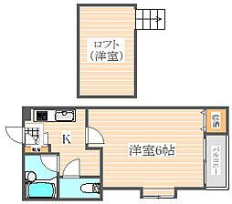 ラッフル2[1階]の間取り