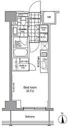 東京メトロ日比谷線 秋葉原駅 徒歩6分の賃貸マンション 4階ワンルームの間取り