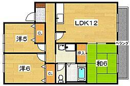 グリーンピアハイツ[2階]の間取り
