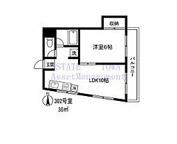 東京都目黒区緑が丘3丁目の賃貸マンションの間取り